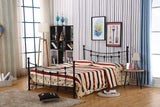 QUEEN SIZE- (04 BLACK)- METAL- BED FRAME- WITH SLATS