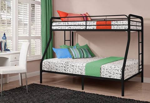 TWIN/ DOUBLE- (501 BLACK)- METAL- BUNK BED FRAME