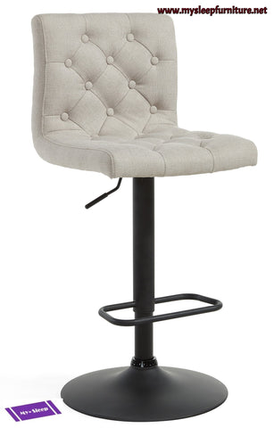 (DEX BEIGE)- FABRIC- BAR STOOL