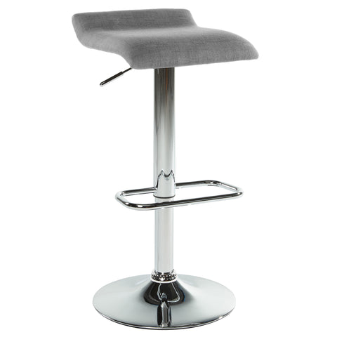 (FABIA GREY)- FABRIC- BAR STOOL