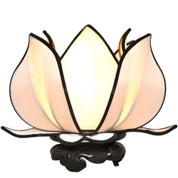Baby Blooming Lotus Lamp, White