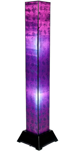 Tana Silk Floor Lamp, Jewel