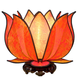 Blooming Lotus Table Lamp, Citrus