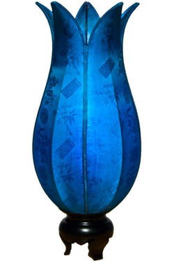 Flowering Lotus Table Lamp, Aqua