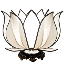 Blooming Lotus Table Lamp, White