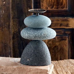 Candle Holder Triple Cairn