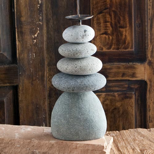 Candle Holder Quintuple Cairn