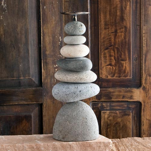 Candle Holder Septuple Cairn - Om Gallery