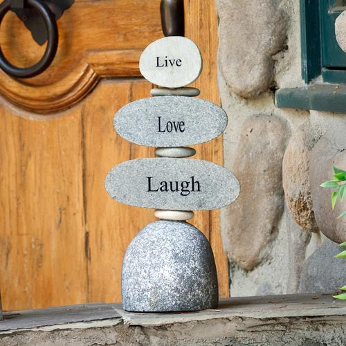 Cairn Sculpture - Live Love Laugh - Om Gallery