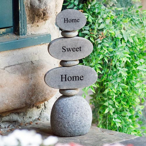 Cairn Sculpture - Home Sweet Home - Om Gallery