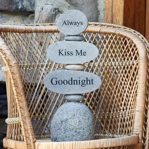 Cairn Sculpture - Always Kiss Me Goodnight - Om Gallery