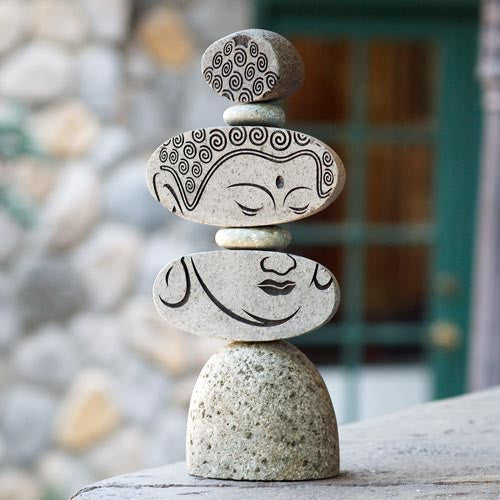 Cairn Sculpture - Face of Buddha - Om Gallery