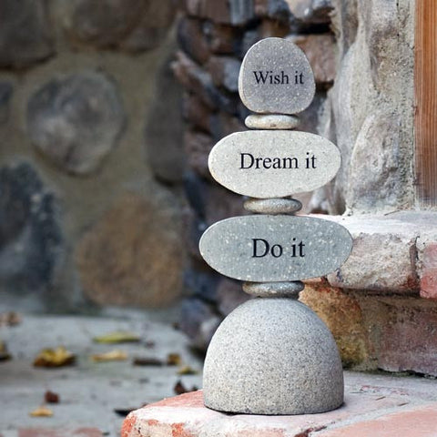 Cairn Sculpture - Wish it, Dream it, Do it - Om Gallery