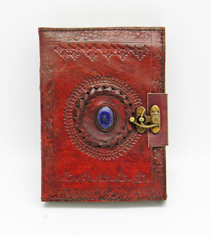 Leather Stone Eye Journal 5x7
