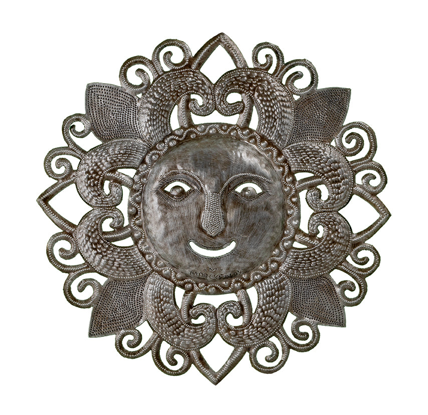 Quatrefoil Sun Face Oil Drum Art