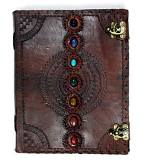 Chakra Stones Leather Embossed Journal Medium
