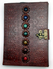 Chakra Stones Leather Embossed Journal Small