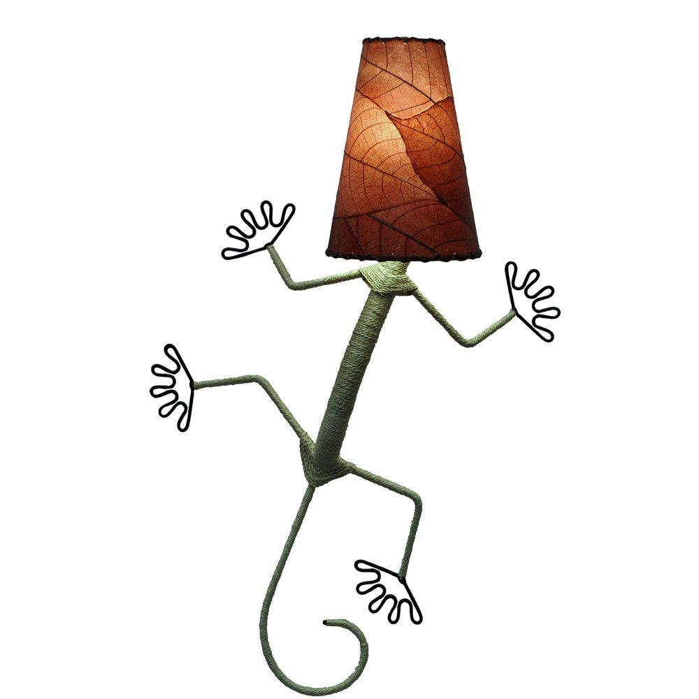 Gecko Lamp - Burgundy - Om Gallery