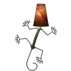 Gecko Wall Lamp, Burgundy