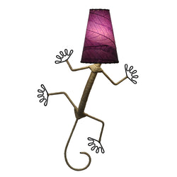 Gecko Wall Lamp, Purple