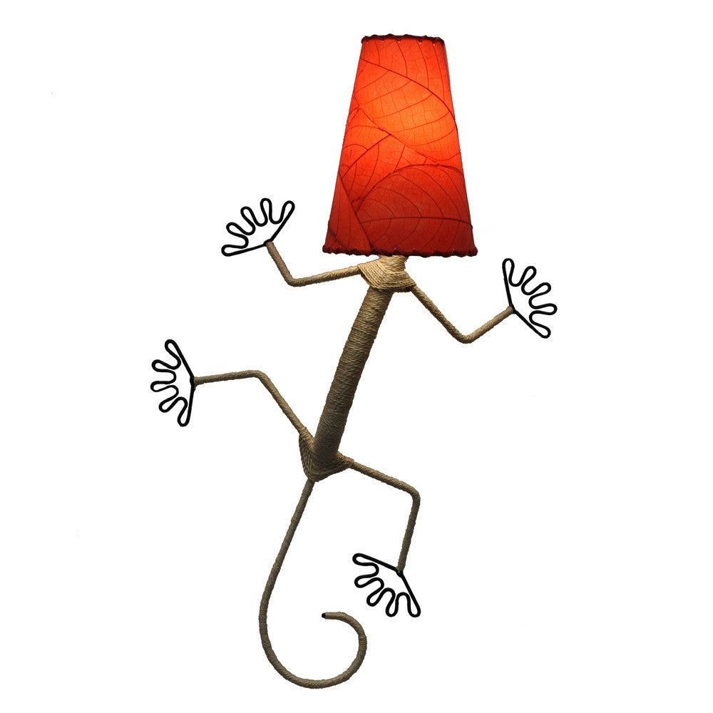 Gecko Lamp - Red - Om Gallery
