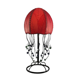 Jellyfish Table Lamp, Red