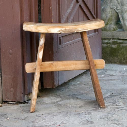 Japanese Teak Stool - Om Gallery