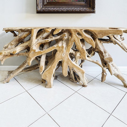 Habini Teak Root Console Table - Om Gallery