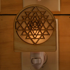 Unique Wooden Nightlights - Sri Yantra