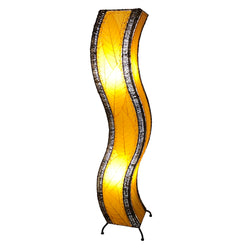 Wave Large Floor Lamp, Orange