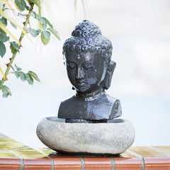 Table Buddha Head Fountain