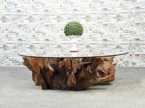 Habini Teak Root Square Coffee Table - Om Gallery