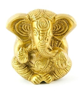 Lord Ganesh Carved Brass Statue