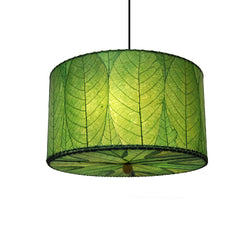 Hanging Drum Pendant Lamp Small, Green