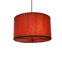 Hanging Drum Pendant Lamp Small, Red