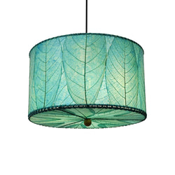 Hanging Drum Pendant Lamp Small, Sea Blue