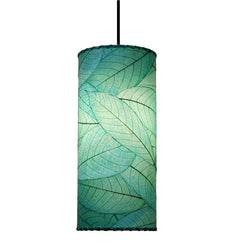 Hanging Cylinder Pendant Lamp, Sea Blue