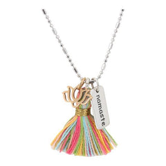 Namaste Lotus Table Tassel Necklace