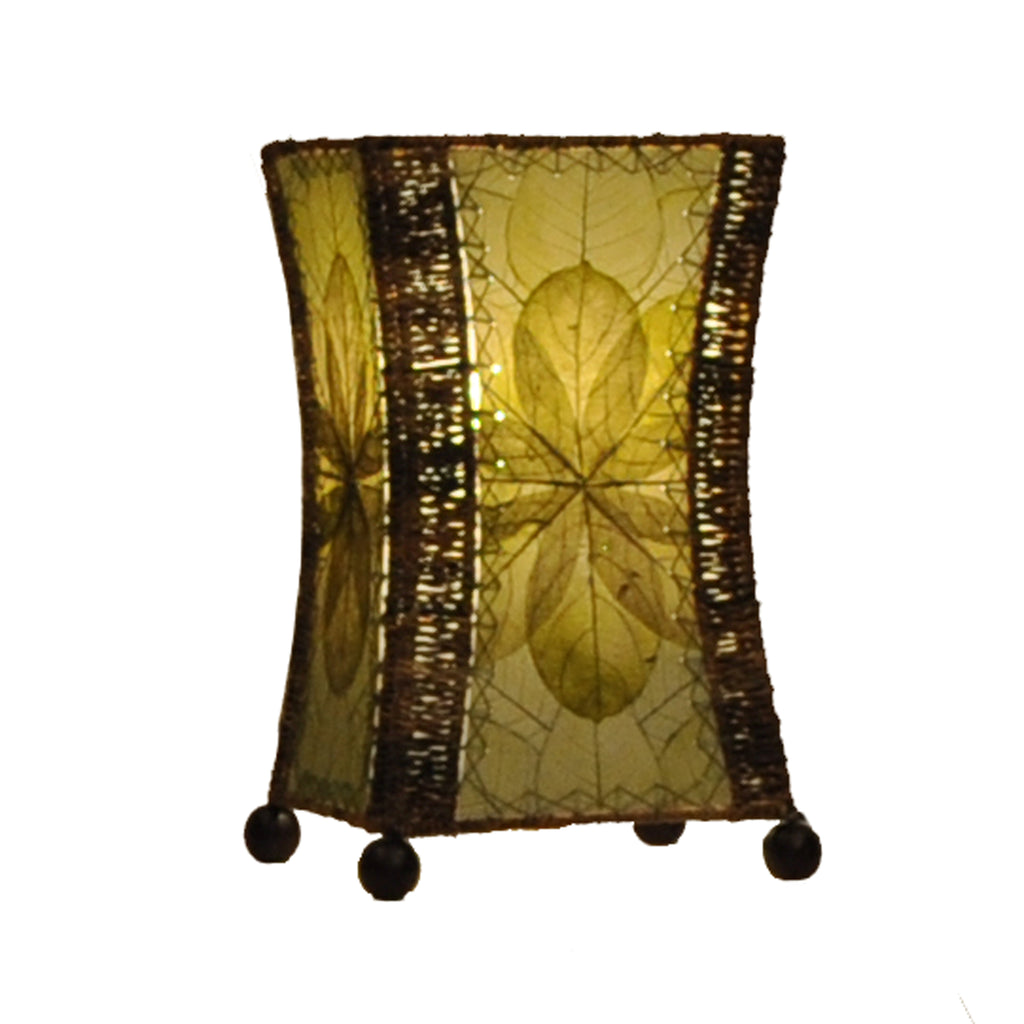 Jackfruit Leaf Hourglass Table Lamp