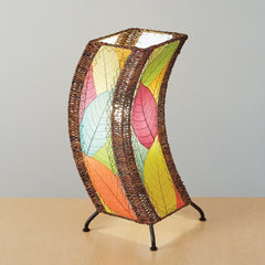 Cocoa Leaf C-Shape Table Lamp - Color Options