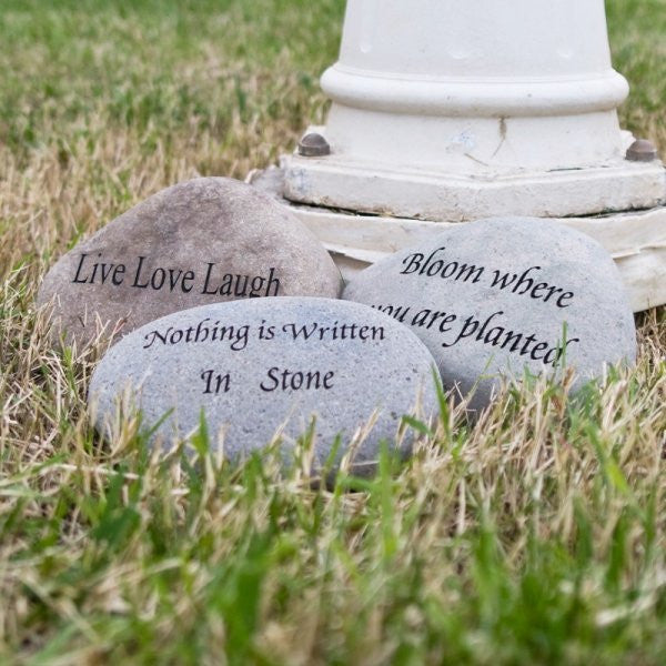 Medium Engraved Stones (Phrases)