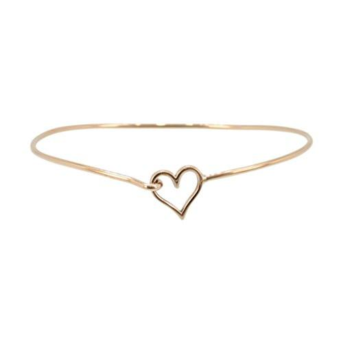 Bronze Heart Bangle Bracelet