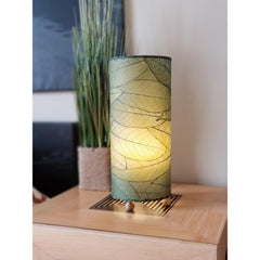 Cocoa Leaf Cylinder Table Lamp - Color Options