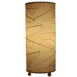 Cocoa Leaf Cylinder Table Lamp, Natural