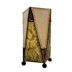 Banyan Leaf Trapezoid Table Lamp, Green