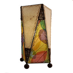 Banyan Leaf Trapezoid Table Lamp, Multi