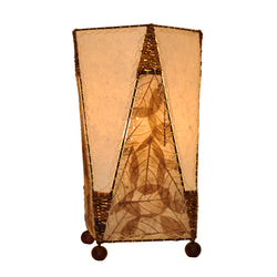 Banyan Leaf Trapezoid Table Lamp, Natural