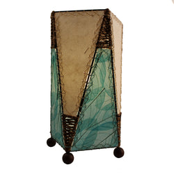 Banyan Leaf Trapezoid Table Lamp, Sea Blue