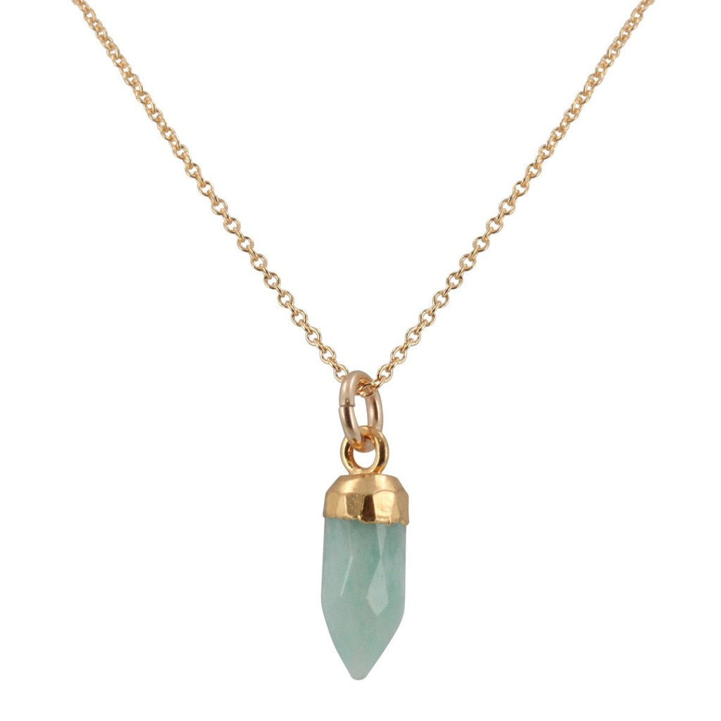 Small Gem Point Necklace in Gold