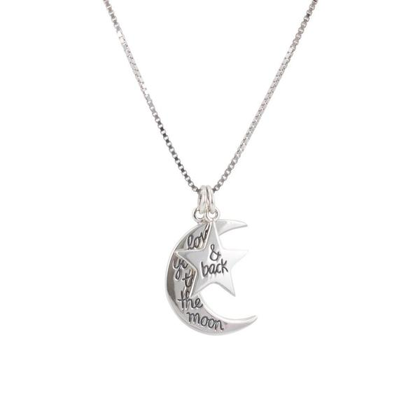 I Love You to the Moon and Back - Moon & Star Necklace